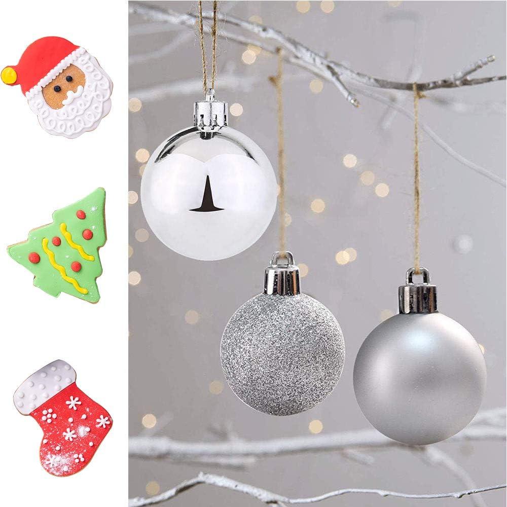 Shatterproof Christmas Tree Decorations Large Hanging Ball for Holiday Wedding Party Decoration Emopeak 24Pcs Christmas Balls Ornaments for Xmas Christmas Tree