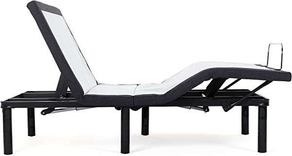 Blissful Nights Full Adjustable Bed Base With Wireless Remote Head And Foot Incline And No Tools Required Assembly