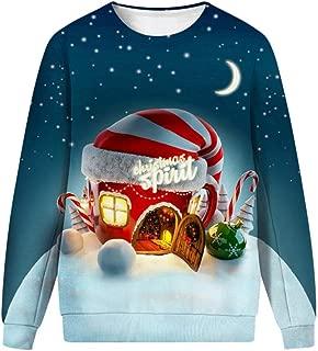 Men&Women Ugly Christmas Sweater Funny Sweatshirt Long Sleeve Pullover