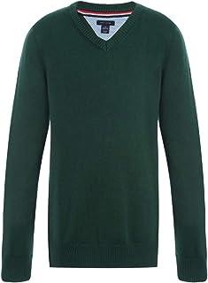Tommy Hilfiger Girls Girls V-Neck Sweater Long Sleeves Sweater