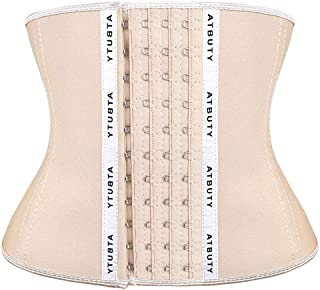 Atbuty Waist Trainer Short Torso Latex Waist Cincher Corsets Weight Loss Tourmaline Sport Body Shaper for Women