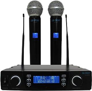 Microfone LSX02 Digital Dual System PLL- Multifrequência UHF 100 Canais - Leson