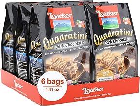 Loacker Quadratini Premium Dark Chocolate Wafer Cookies, 125g/4.41oz., Pack of 6