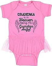 Baby Gifts For All My Grandma in Heaven My Guardian Angel Tutu Bodysuit
