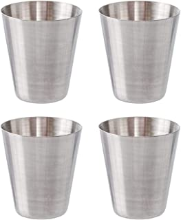 Thirsty Rhino Stainless Steel Shot Glass, 1 Ounce (Set of 4)