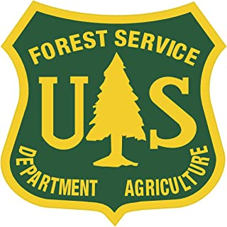 Yellow Dog Green US Forest Service Shield Sticker 2