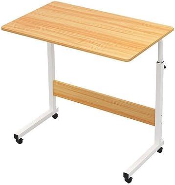 GIAO Table Roulante de Lit Canapé Taille Réglable for Ordinateur Portable Roulant Table Bureau Portable Support for Ordinateu
