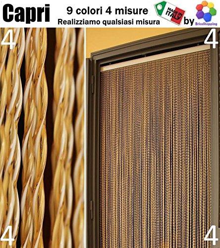 TENDA MOSCHIERA ZANZARIERA CAPRI 9 COLORI 4 MISURE MADE IN ITALY (120x230, 4 GIALLO)
