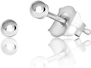 Sterling Silver Ball Stud Earrings, 2mm - 10mm