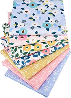 """Quilting Fabric,7 Pcs Fat Quarters Fabric Bundles,Precut Quilt Fabric for Sewing Crafting,18"""" x 22"""" Multi A"""