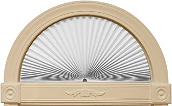 "Redi Shade 3607878 White, 72"" x 36"" Original Arch Sheer View Solar Fabric Shade,"
