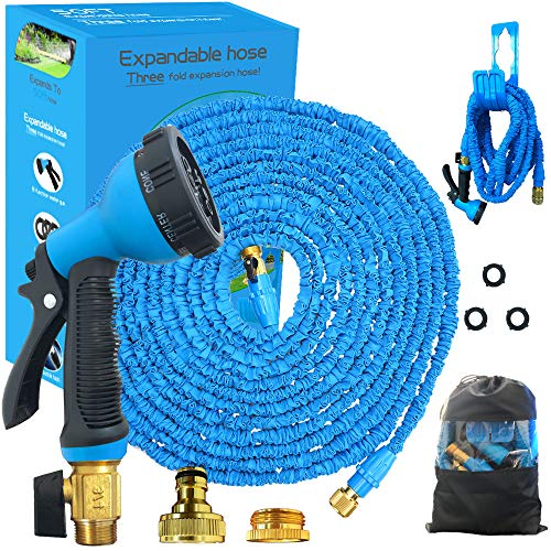 Running Bulls Expandable Garden Hose Pipe 50ft Magic Flexible Hosepipe With...