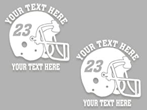 Custom Football Helmet Personalized Vinyl Decal 6