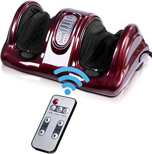 wholesale Giantex Foot Massager Machine Massage for Feet, Chronic Nerve Pain Therapy Spa Gift Deep Kneading new arrival Rolling Massage for Leg Calf lowest Ankle, Electric Shiatsu Foot Massager w/ Remote, Burgundy sale