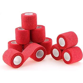 nilo bende adesive benda autoadesiva ed elastica 24 rotoli 5 cm x 4,5 m rosa