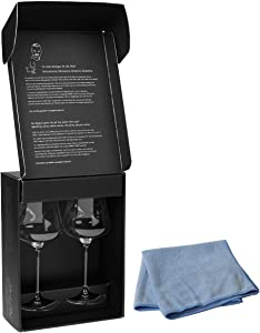 Bundle - 2 items: Gabriel-Glas - Set of 2 - Austrian Crystal Wine Glass -