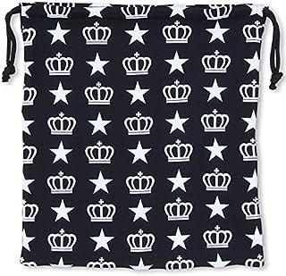 ベビードール 王冠ロゴキンチャク キッズ ベビー Lサイズ 総柄ブラック