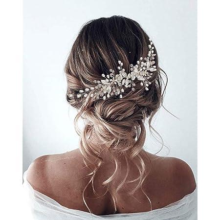Haarschmuck// Kopfschmuck// Haarb/änder mit Perlen und Strass-Steinchen Hochzeit Kommunion