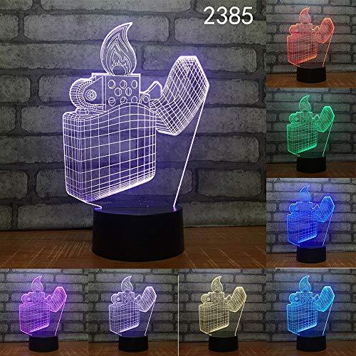 es Florero Copa Resumen Acrílico Estéreo Amigos Juguetes 3D LED Luz de noche Lámpara de mesa Mesita de noche Decoración Regalo de niños