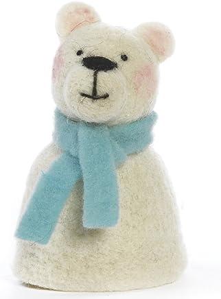 Preisvergleich für Baden dekorativer niedlicher Eierwärmer Eisbär mit Schal aus Filz Preis für 1