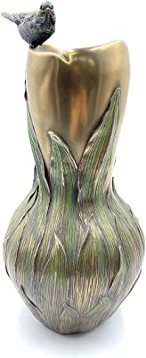 VERONESE Collection, Vase en Forme d'oiseau, Polyrésine Dure, Figure de bibelot, 17,5 x 17,5 x 34,5 cm