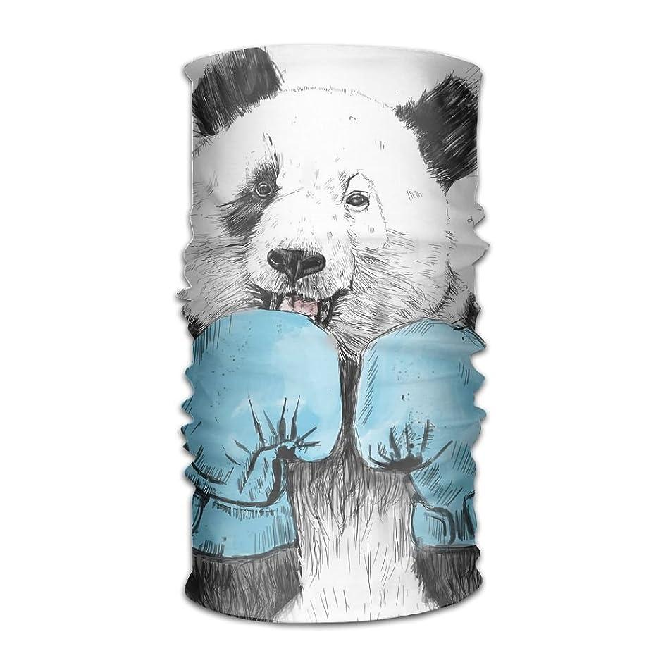 Owen Pullman Multifunctional Headwear Boxing Panda Head Wrap Elastic Turban Sport Headband Outdoor Sweatband