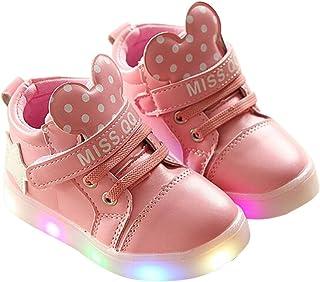 e91310b63547 BININBOX Kids Cartoon LED Light Up Shoes Casual Sneakers for Girls Boys