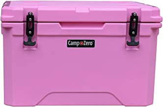 CAMP-ZERO 40L   42.26 Quart Premium Cooler/Ice Chest with 4 Molded-in Cup   Pink