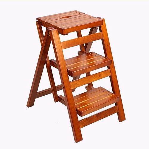 salida para la venta RFJJ Taburete de de de Madera Taburete multifunción Plegable Taburete Escalera de Cuero Importado Taburete Taburete de Almacenamiento Escalera de Oficina -Cómodo decoración  garantizado