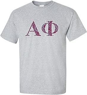 VictoryStore Apparel - Alpha Phi, Paisley Greek Letters Design Standard T-Shirt