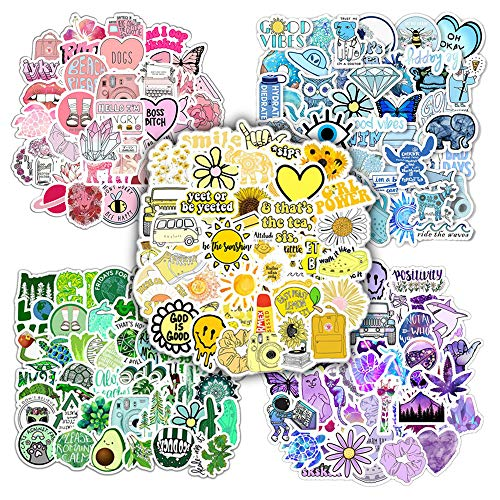TWSTYFAL 250 pegatinas bonitas para niña VSCO Girl Stickers impermeables para botellas de agua, portátil, monopatín, coche, moto, bicicleta, PS4, caja de snowboard
