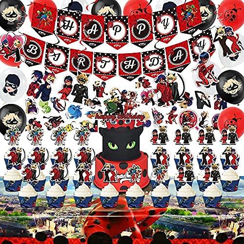 112 Pcs Ladybug Birthday Party D...
