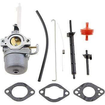 WOOSTAR 799584 Carburateur 19mm avec Gasket Remplacement pour Briggs /& Stratton Carb 140cc Lawnmower Noir