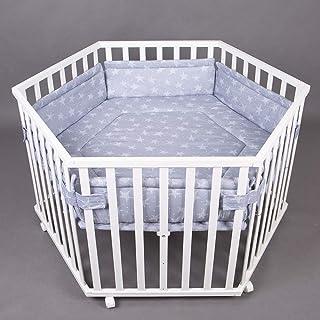 Parc bébé de luxe parc enfant 6 square parc de bebe BLANC 52304W-D02