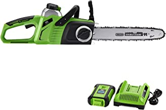 """Best Partner 40V Max Lithium-Ion Brushless Cordless 14"""" Chain Saw,4.0AH Battery and Charger Include"""