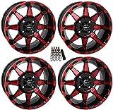 STI HD6 UTV Wheels/Rims Red/Black 14' Polaris RZR 1000 XP/Ranger XP 900/1000