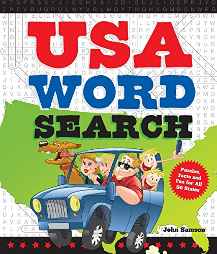 USA Word Search: Puzzles, Facts, and Fun for 50 States