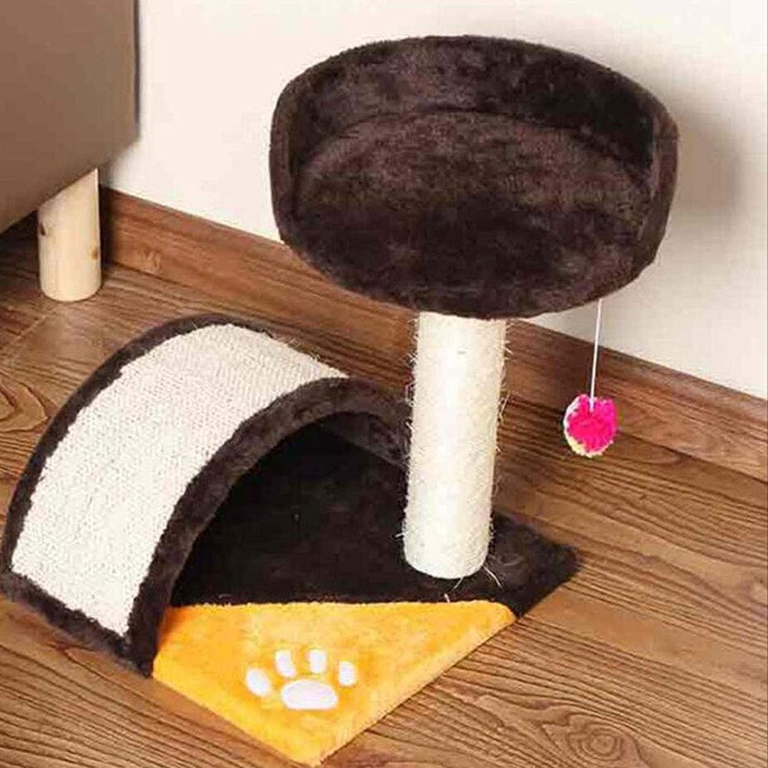 Cat Nest Small Cat Climbing Frame Cat Tree Cat Jumping Platform Cat Toy (color   Brown)