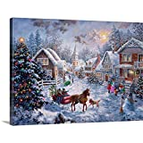Merry Christmas Canvas Wall Art Print, 24'x18'x1.25'