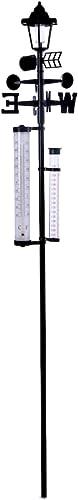 lowest IdeaWorks All-In-One Solar Weather Station w/ Light, Rain Gauge online - 60 new arrival '' online