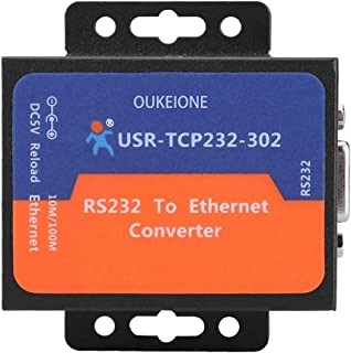 Tiny RS232 to Ethernet Converter Module Serial TCP IP LAN Network Server Device Supports TCP UDP Client DHCP/DNS USR-TCP23...