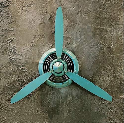 ZYFBG Wanddekoration Retro industriellen Wind Wand hängen Flugzeug Propeller Eisen, kreative bar wanddekoration anhänger (fünf Farben optional) wandtattoo (Farbe : C)