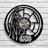 Darth Vader Star Wars Vinyl Record Wall Clock Fan Gift Black Room Decor Idea - Win a prize for feedback