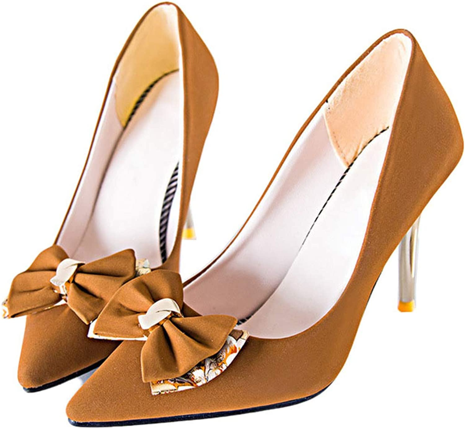 Kyle Walsh Pa Women's Pumps Bow Knot Stiletto Pointed Toe Female Casual High-Heeled shoes