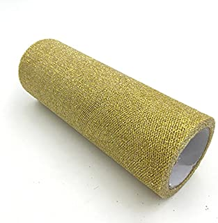 Mariage GLITTER Tulle Rouleau 6po x 30pi GOLD Sparkling Tulle (10 yards)