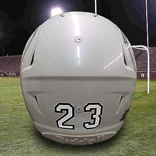 Helmet Numbers - Helmet Number Decals - Die Cut Number Decals - Player Number Decals