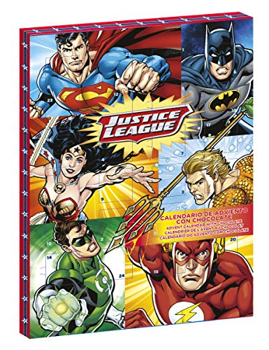 Generique - Justice League-Lizenz Adventskalender DC-Helden bunt 50g