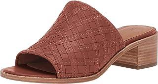 FRYE Women's Cindy Woven Mule Flat Sandal, Cognac, 6.5 M US