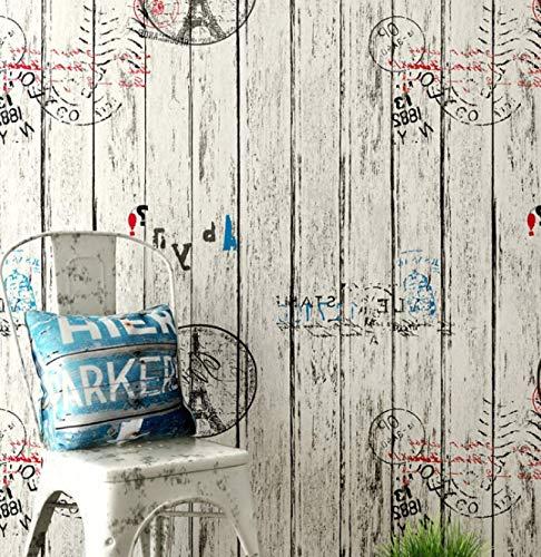 Autoadhesivo retro grano de madera impermeable pegatinas de pared papel pintado creativo dormitorio sala de estar papel tapiz de fondo 60 CM * 10 M E