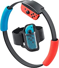 SweetCom Ring-Con Grips and Adjustable Leg Fixing Strap for Nintendo Switch Fit Adventure Game (NOT Include Ring-Con)